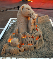 Disney African Cats Sand Sculpture - Disneyland Anaheim, CA. Earth Day 2011