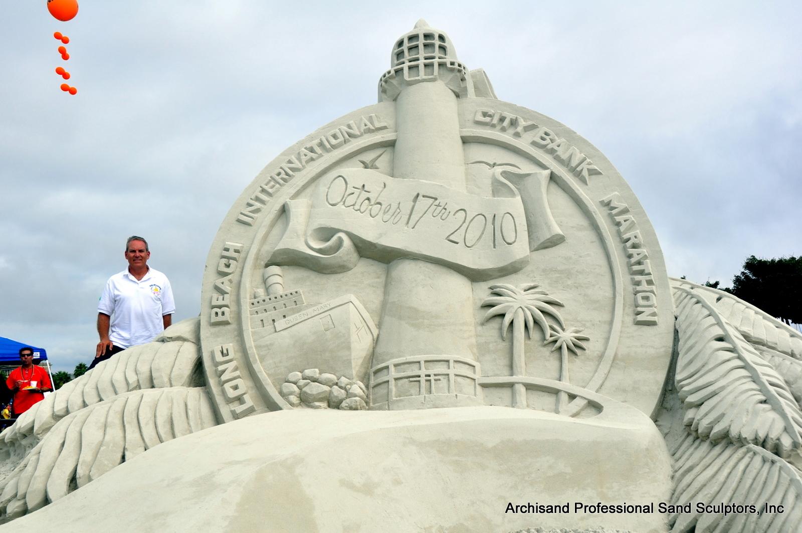 Long Beach Marathon Sand Sculpture 2010