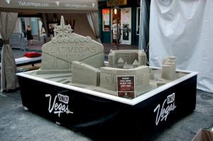 Camp Vegas Table top Sand Sculpture San Diego CA