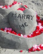 """Marry Me"" Engagement Heart Sculpture"