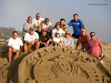 Starbucks Logo - Team Building Event in Sand