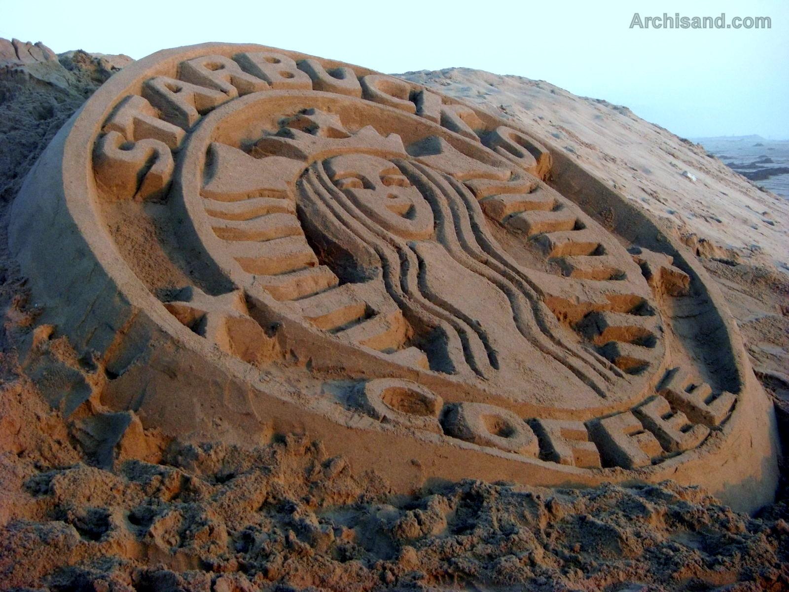 Starbucks Sandcastle
